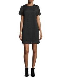 MICHAEL Michael Kors Michl Michl Kors Laser Cut Neoprene T Shirt Dress Black