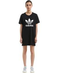 adidas Trefoil Cotton Jersey T Shirt Dress