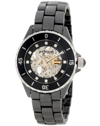 Ak508bk ceramic midsize automatic black bracelet watch medium 219200