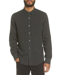 Black Chambray Long Sleeve Shirt