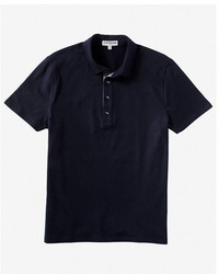 Express Chambray Placket Moisture Wicking Polo