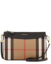 Burberry House Check Crossbody Bag Black