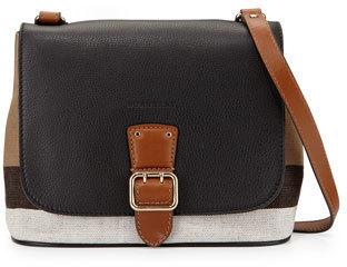 9521c1f500a5 ... Burberry Shellwood Small Check Crossbody Bag Black ...