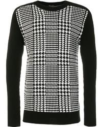Balmain Houndstooth Check Sweater