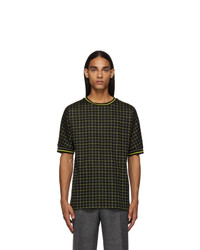 Paul Smith Black And Yellow Tattersal Check T Shirt