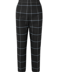 Marni Cropped Checked Twill Straight Leg Pants