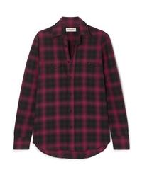 Saint Laurent Checked Cotton Flannel Shirt