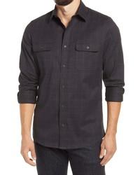 Nordstrom Men's Shop Nordstrom Stretch Flannel Button Up Shirt