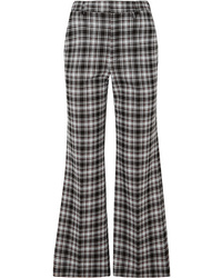 Black Check Flare Pants