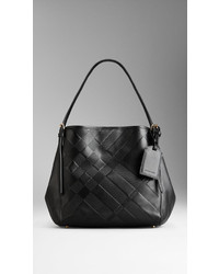 df1aedda469 Women's Black Check Leather Tote Bags by Burberry | Women's Fashion ...