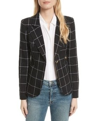 Smythe Duchess Windowpane Linen Blazer