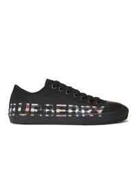 Burberry Black Larkhall Logo Sneakers