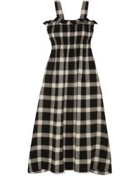 MM6 MAISON MARGIELA Convertible Smocked Checked Flannel Dress