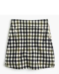 J.Crew Petite Mini Skirt In Oxford Check