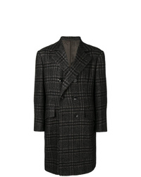 Kiton Double Breasted Check Coat