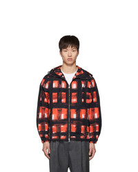 Alexander McQueen Black And Red Painted Check Jacket