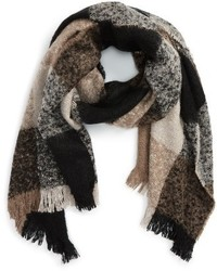 Sole Society Check Blanket Scarf