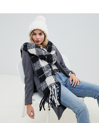 My Accessories Check Boucle Scarf