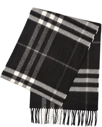Burberry Check Brushed Cashmere Scarf