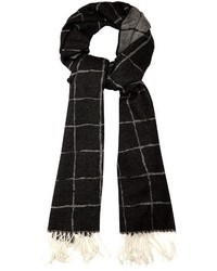 Balenciaga Windowpane Checked Cashmere Scarf