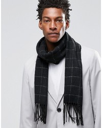 Asos Woven Scarf In Grid Check