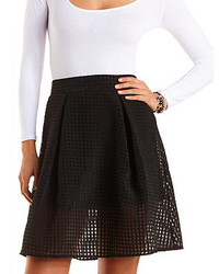 Gingham checked organza skater skirt medium 184233