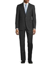 Robert Graham Henry Tonal Check Two Piece Suit Black