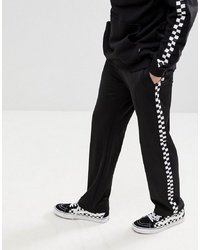 Sweet Sktbs Joggers With Checkerboard Panel In Black