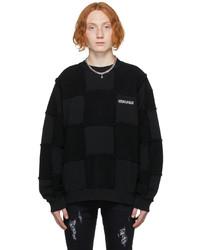 Marcelo Burlon County of Milan Black Checkboard Sweatshirt