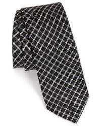 Black Check Tie