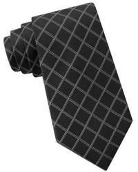 DKNY Silk Graphic Check Tie