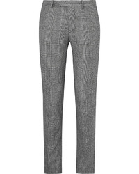 Sandro Slim Fit Prince Of Wales Checked Wool And Cotton Blend Suit Trousers