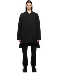 Givenchy Black Wool Check Shirt
