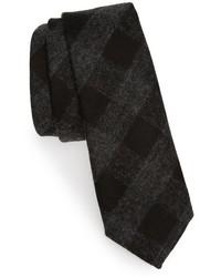 Tuxedo check wool tie medium 783948