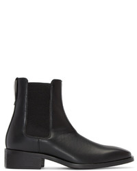 Stella McCartney Black Polished Chelsea Boots