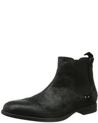 Perforar Generador Bermad  Men's Black Chelsea Boots by Geox | Lookastic