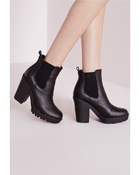 Missguided Heeled Chelsea Boot Black