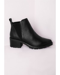 Missguided Pointed Toe Chelsea Boots Black