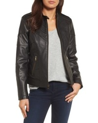 Catherine Malandrino Catherine Chevron Seam Leather Jacket