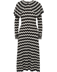 Stella McCartney Cape Effect Intarsia Wool Midi Dress