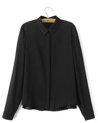 ChicNova Pleated Chiffon Blouse