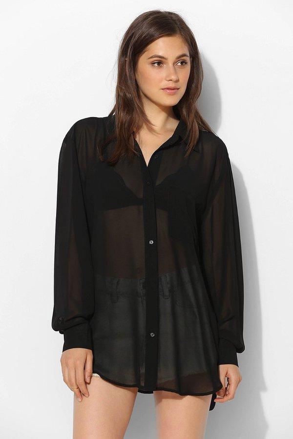 f7ec55359 Glamorous Floral Chiffon Button Down Shirt, $66 | Urban Outfitters ...