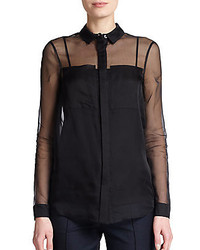Burberry sheer organza blouse medium 250472