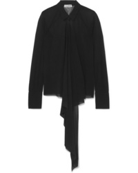 Jil Sander Draped Voile Shirt
