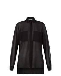 New Look Black Sheer Utility Blouse