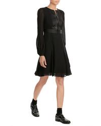 Karl Lagerfeld Chiffon Dress With Zipped Front