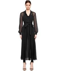 Karl Lagerfeld Ikonik Silk Chiffon Jumpsuit Dress