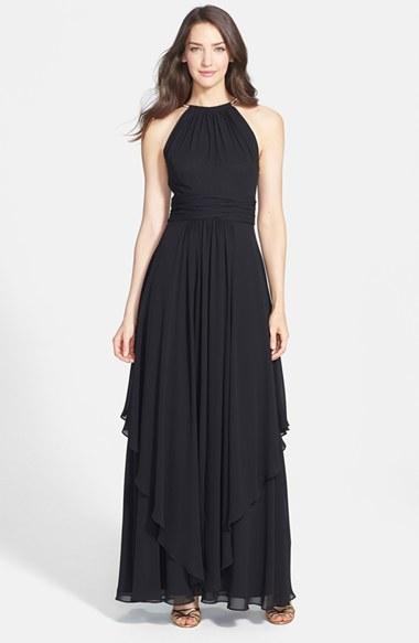 Eliza J Chiffon Halter Gown, $198