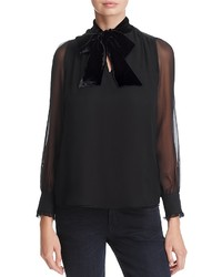 Kate Spade New York Velvet Bow Blouse