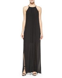 Elizabeth and James Adley Chiffon Maxi Dress Black